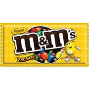 M&M's® Peanut Candy King Size Bag, 3.27 oz. Bags, 24 Bags/Box