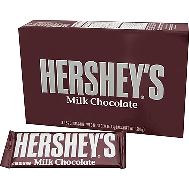 Hershey's® Milk Chocolate Bar, 1.55 oz. Bars, 36 Bars/Box