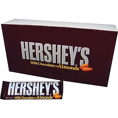 Hershey's® Milk Chocolate Bar with Almonds, 36 Bars/Box