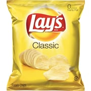 Lay's® Classic Potato Chips, 1.5 oz. Bags, 64 Bags/Box