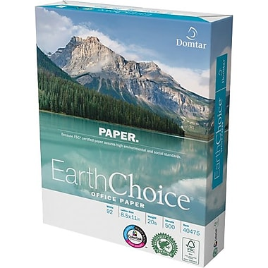 Domtar Earthchoice® Office Paper, 8 1/2in. x 11in., Ream