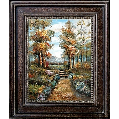 Hand Painted in.Nature Walkin. 28x32in. Framed Artwork