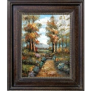 Hand Painted Nature Walk 28x32 Framed Artwork
