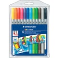 Staedtler® Noris Club® #320 Fiber-Tip Pens with 2 Tips, Assorted, 12/Pack