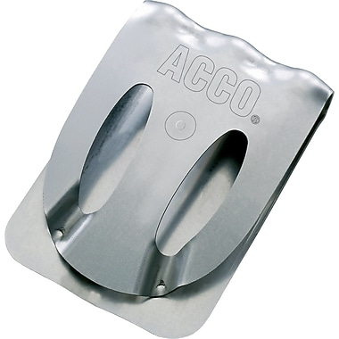 Acco® Klix Clips, Silver, 10/Pack