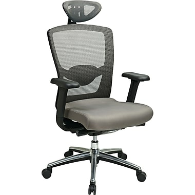 Office Star™ ProGrid® Mesh Back Managers Chair with Headrest, Gray