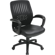 Office Star™ Screen-Back Managers Chair with Polyurethane Seat, Black