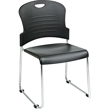 Office Star™ Sled-Base Stacking Chairs