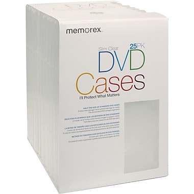 Memorex DVD Slim Cases, 25/Pack