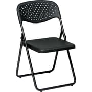 Office Star™ Ventilated Folding Chair, Black, 4/Pack