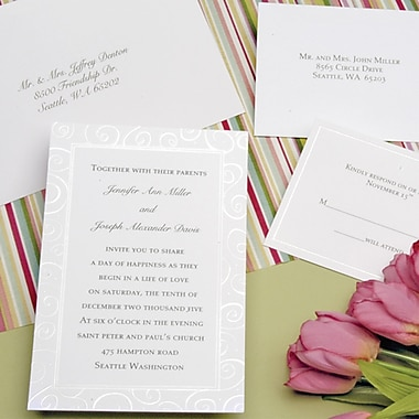 Pearl Swirl Invitation Kits