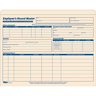 Pendaflex® Employee Record Jacket, 1