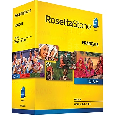 Rosetta Stone® French v4 TOTALe™ - Level 1, 2, 3, 4, & 5 Set [Boxed]