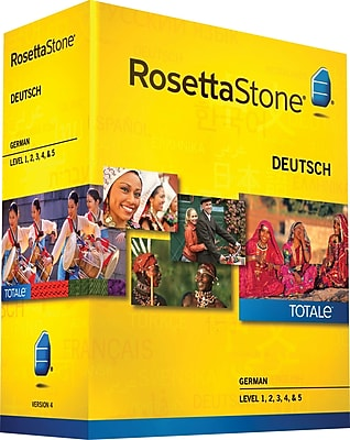 Rosetta Stone German v4 TOTALe Level 1 2 3 4 5 Set [Boxed]