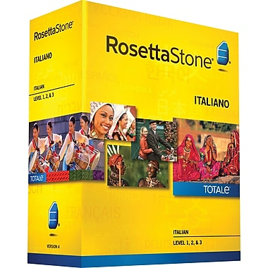 Rosetta Stone® Italian v4 TOTALe™ - Level 1, 2 & 3 Set [Boxed]