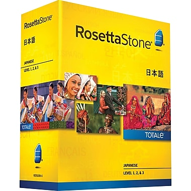 Rosetta Stone® Japanese v4 TOTALe™ - Level 1, 2 & 3 Set [Boxed]
