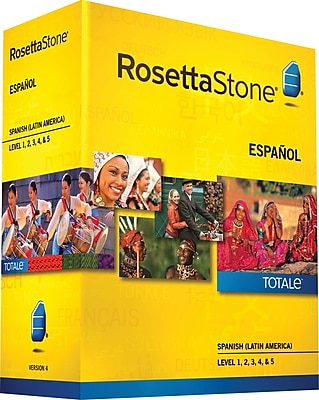 Rosetta Stone Spanish Latin America v4 TOTALe Level 1 2 3 4 5 Set [Boxed]