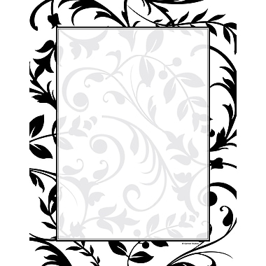 Black & White Vines Stationery