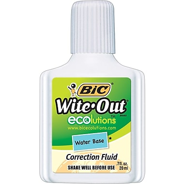 BIC® Wite-Out® Brand ECOlutions™ Water Base Correction Fluid, White