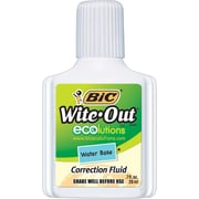 BIC® Wite-Out® Brand ECOlutions™ Water Base Correction Fluid, White, Each