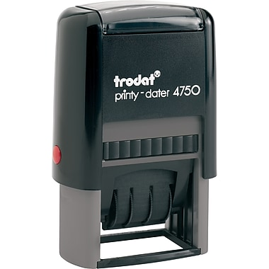 Trodat® 4750 Self-Inking Text Daters, French