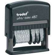 Trodat® 4817 Self-Inking Phrase Dater, English