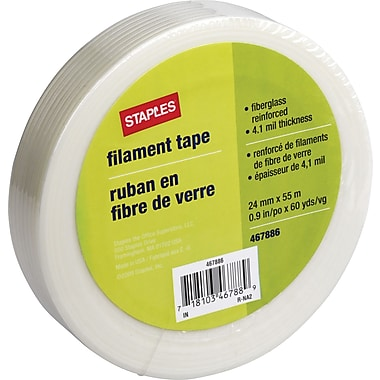 Staples Fiberglass Filament Tape, 0.9in. x 60 Yards
