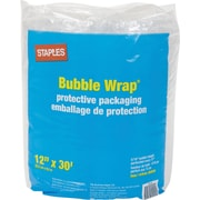 "Staples® Premium Bubble Wrap*, 12"" x 30'  Roll, 5/16"" thick"