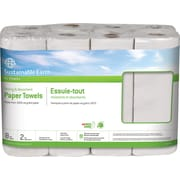 Sustainable Earth by Staples® Perforated Paper Towel Rolls, 2-Ply, 8 Rolls/Case