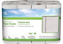 Sustainable Earth by Staples® Kitchen Roll Towel, 2-ply, Full Size, 60 sheets/Roll, 8 rolls/case, (SEB20184-CC)