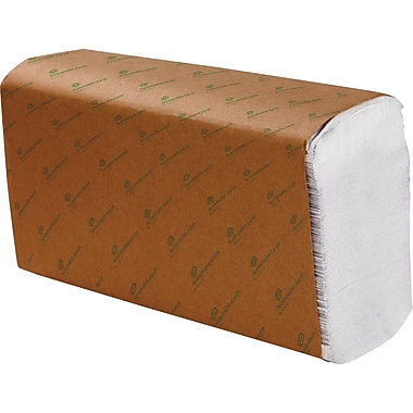 Sustainable Earth by Staples 1-Ply Multifold Paper Towels, White, 4,000/Case (SEB25384)