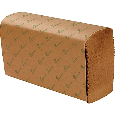 Sustainable Earth by Staples® Multifold Paper Towels, Natural, 1-Ply, 4,000/Case