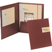 Oxford Your Style™ Custom Card Folio, Burgundy, 4/Pack