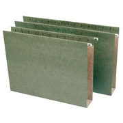 Staples® Box-Bottom Hanging File Folders, Letter, 2 Capacity, Standard Green, 25/Box