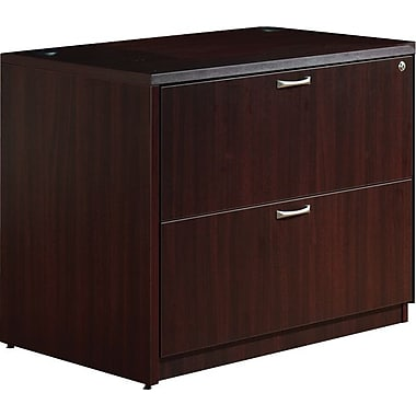 Star Zeta Collection Lateral File, Figured Mahogany