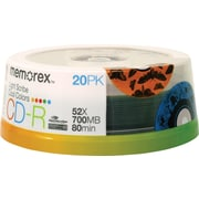 Memorex™ 20/Pack Cool Colors LightScribe 700MB CD-R, Spindle