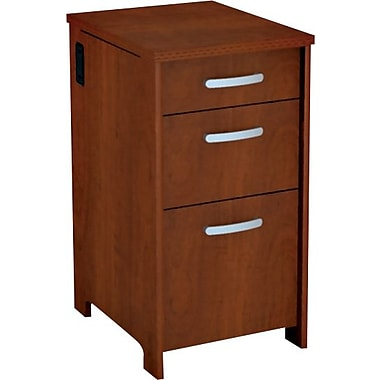 Bush® Envoy Collection 3-Drawer File, Hansen Cherry Finish
