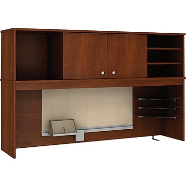 Bush® Envoy Collection Hutch, Hansen Cherry Finish