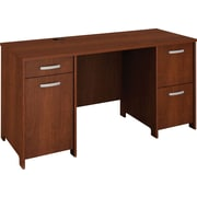 Bush Business Envoy 58W Double Pedestal Desk Kit, Hansen Cherry