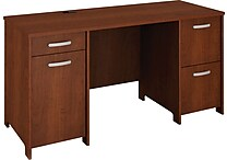 Bush® Envoy Double Pedestal Desk, Hansen Cherry
