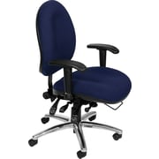 OFM Hi-Back 24-HR Ergonomic Multi-Shift  Big/Tall Fabric Task Chair, Navy