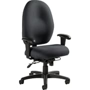 Global Stamina Ergonomic Multishift-Use Fabric Task Chair, Graphite