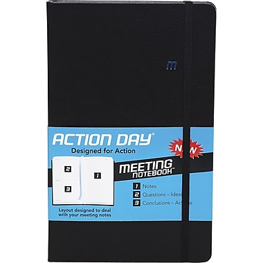 Action Day® Meeting Notebook, Black