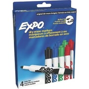 Expo® Dry-Erase Markers, Assorted, Bullet Tip,  8/Pack