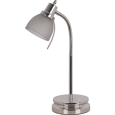 Tensorr halogen desk lamp brushed nickel staplesr for Staples halogen floor lamp