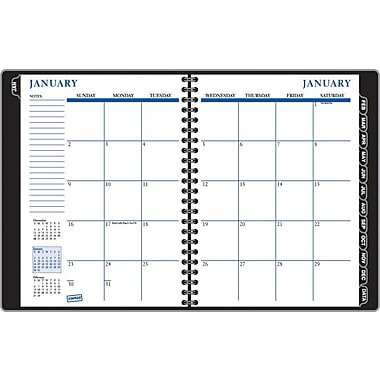 2014 Staples® Weekly/Monthly Planner, Black, 8in. x 11in.