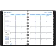 2014 Staples® Weekly/Monthly Planner, Black, 8 x 11