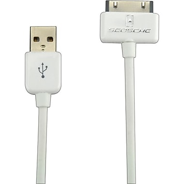 Scosche® syncABLE - USB 2.0 cable for iPad, iPhone and iPod (white)