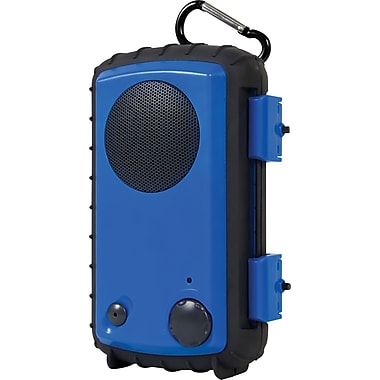 Grace Digital Eco Extreme Rugged All-Terrain Waterproof Speaker Case for MP3 Players and Smartphones, Blue