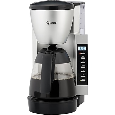 Capresso CM200 10-Cup Programmable Coffee Maker, Silver